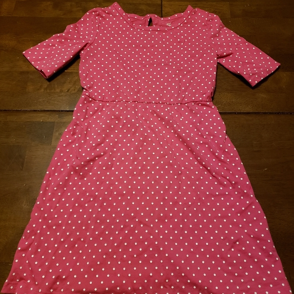Old Navy Other - Old Navy Girls Small Pink Polka Dot Dress 6-7